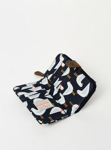 Tmavě modrá vzorovaná peněženka Brakeburn Seagul