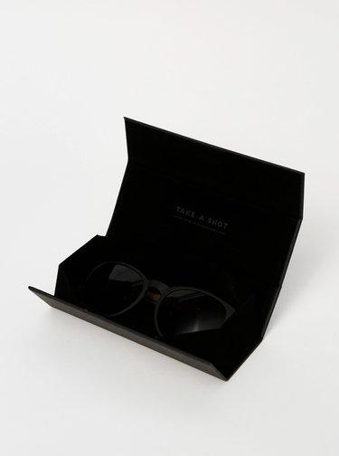 Tmavě hnědé dřevěné sluneční brýle BeWooden The Gryphon