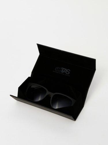 Černé dřevěné sluneční brýle BeWooden Mack