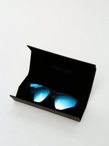 Čierne drevené slnečné okuliare BeWooden Karlsson