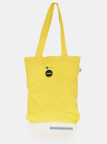"""""""Dobrá"""" žlutá plátěná taška Elpida"""