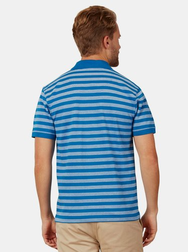 Modré pruhované polo tričko Raging Bull