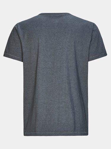 Tmavošedé pánske pruhované tričko killtec Hadero