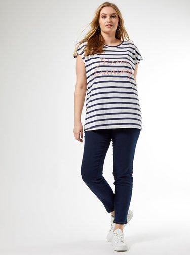 Bílo-modré pruhované tričko Dorothy Perkins Curve
