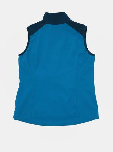 Modrá detská softshellová vodeodolná vesta Hannah Loras