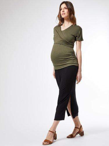 Černá těhotenská maxi sukně Dorothy Perkins Maternity