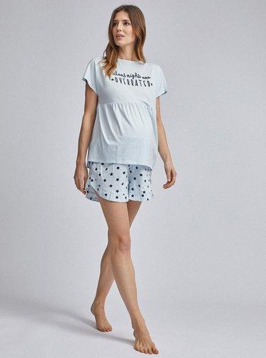 Svetlomodré tehotenské pyžamo Dorothy Perkins Maternity