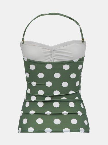 Zelený bodkovaný horný diel plaviek Dorothy Perkins