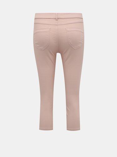 Růžové 3/4 skinny fit džíny Dorothy Perkins Petite