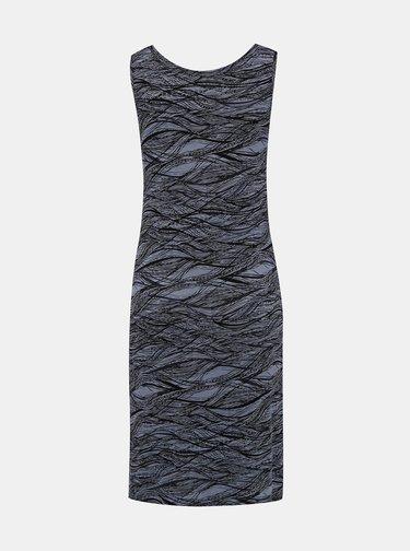 Tmavošedé vzorované šaty Hannah Alavona