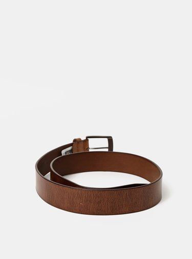 Hnědý pánský kožený pásek Dice Toluca