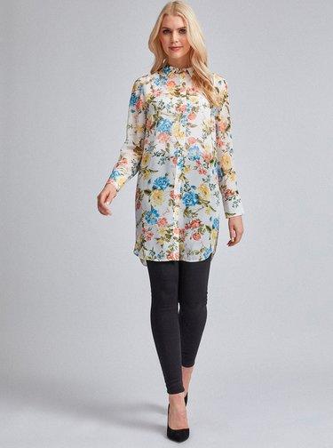 Krémová květovaná košile Dorothy Perkins
