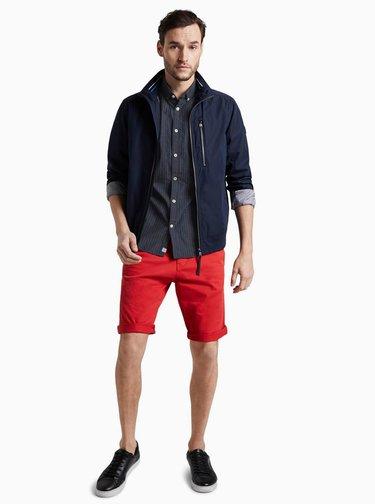 Šedá pánská košile s drobným vzorem Tom Tailor
