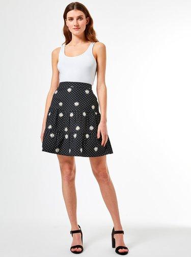 Čierna bodkovaná sukňa Dorothy Perkins