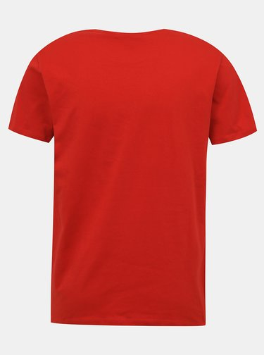 Červené pánské tričko s potiskem Pepe Jeans Earnest