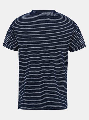 Tmavě modré pánské pruhované tričko Pepe Jeans Gibbon