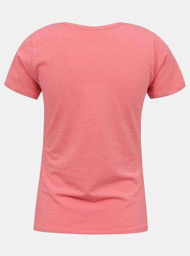 Ružové dámske tričko s potlačou Pepe Jeans Virginia