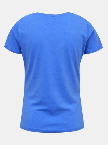 Modré dámske tričko s potlačou Pepe Jeans Virginia