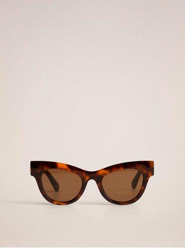 Hnědé vzorované sluneční brýle Mango Jules