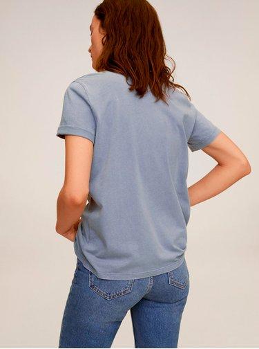 Světle modré tričko Mango Wash