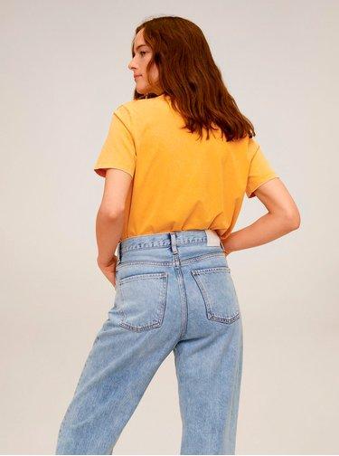 Žluté tričko Mango Wash