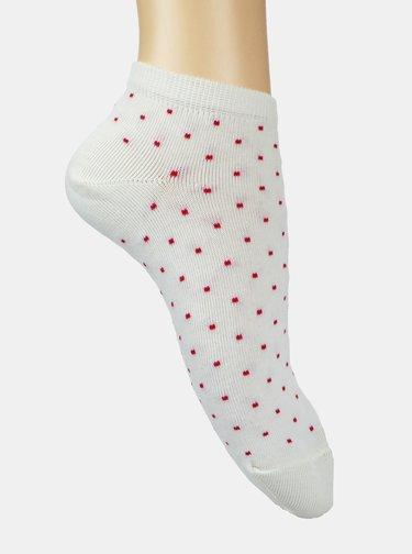 Sada dvoch párov členkových ponožiek v bielej a ružovej farbe Marie Claire