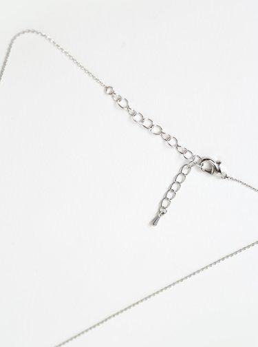 Náhrdelník ve stříbrné barvě s kamínky Swarovski Something Special