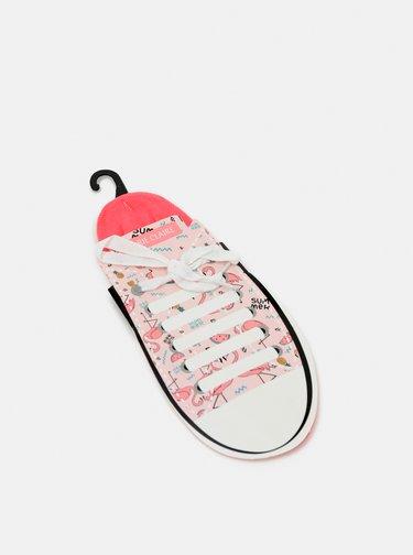 Ružové nízke ponožky Marie Claire