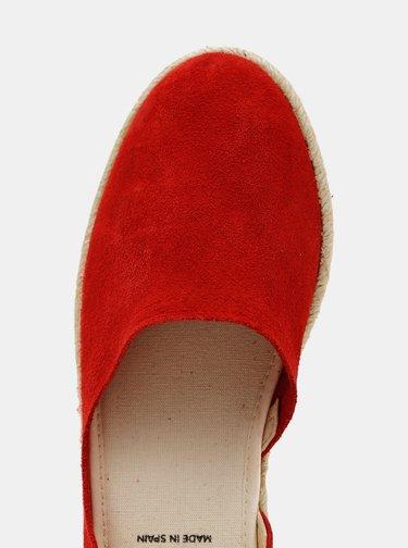 Červené dámské semišové espadrilky OJJU