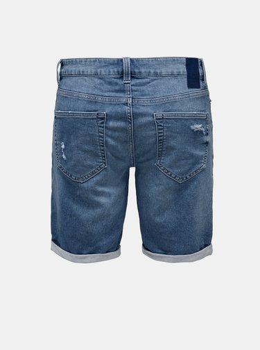Modré džínové kraťasy ONLY & SONS Life