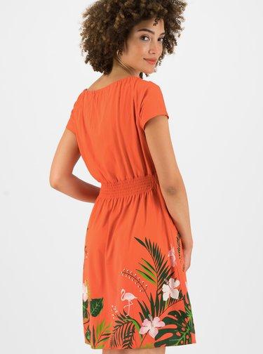 Oranžové vzorované šaty Blutsgeschwister