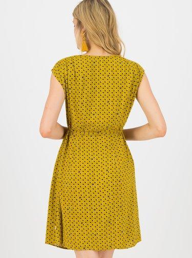 Horčicové vzorované šaty Blutsgeschwister
