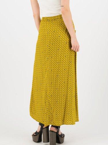 Hořčicová vzorovaná maxi sukně Blutsgeschwister