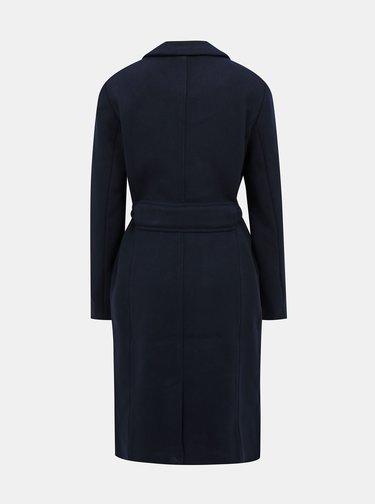 Tmavomodrý vlnený kabát VILA Vicki