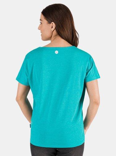 Tyrkysové dámské tričko s potiskem SAM 73