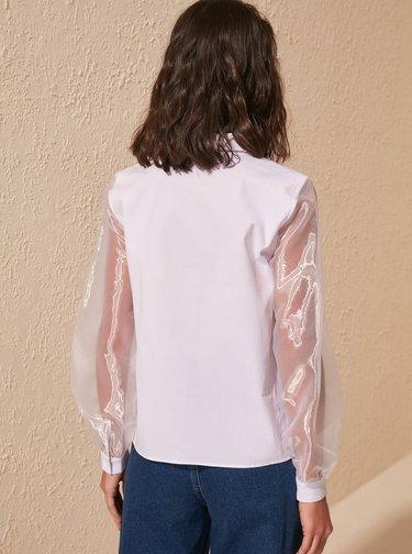 Biela košeľa Trendyol
