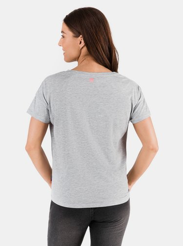 Světle šedé dámské tričko s potiskem SAM 73