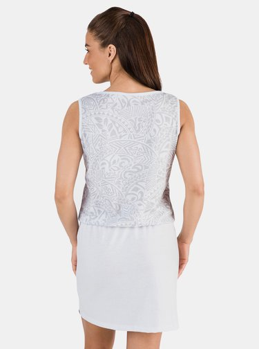 Biele vzorované šaty SAM 73