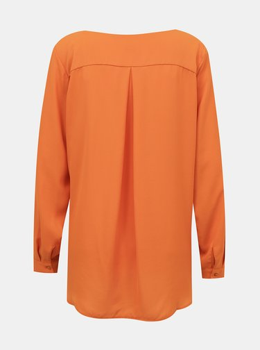 Oranžová volná halenka VILA