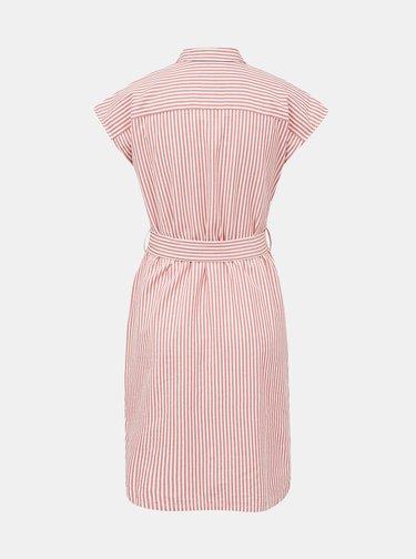 Ružové pruhované košeľové šaty ZOOT Judita