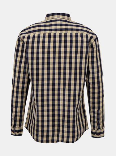 Béžová pánska kockovaná košeľa ZOOT Aiden