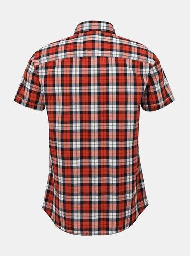 Červená kockovaná košeľa Jack & Jones Chad