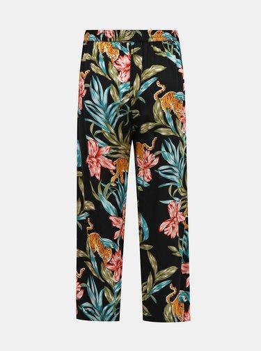 Černé květované kalhoty ONLY
