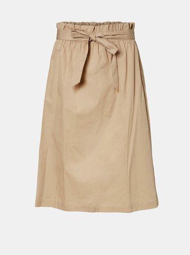 Béžová sukňa VERO MODA Noa
