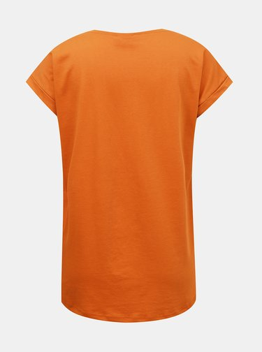 Oranžové basic tričko VILA