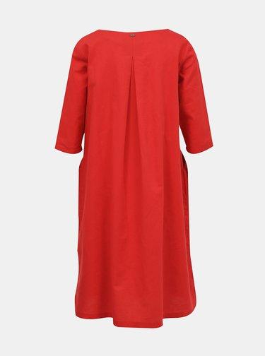 Červené ľanové šaty ZOOT Malvína