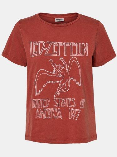 Cihlové tričko s potiskem Noisy May Led Zeppelin