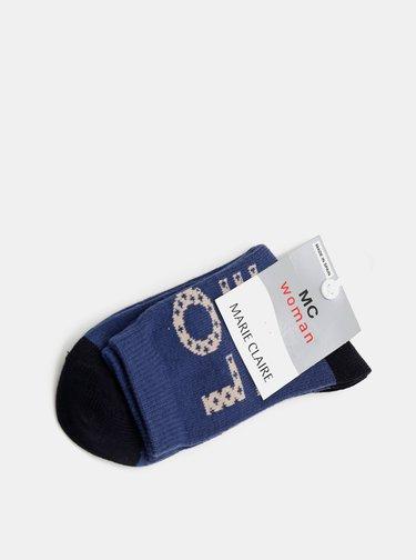 Modré ponožky Marie Claire