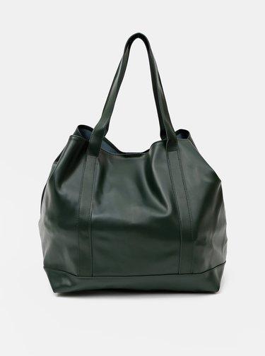 Tmavě zelený shopper Claudia Canova Darby