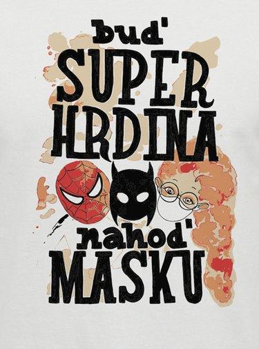 Bílé unisex tričko ZOOT Original  Buď superhrdina, nahoď masku.